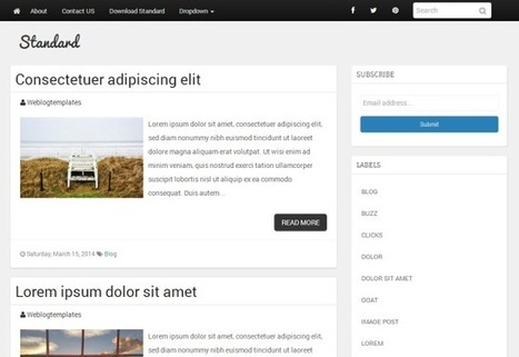Standard Blogger Template - A Simple Responsive Blogger Theme | Blogspot templates | Scoop.it