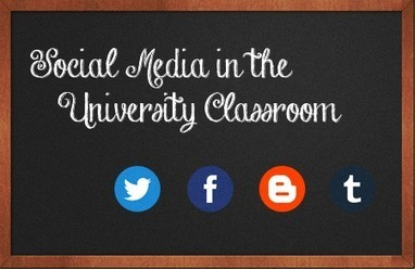 Social Media in the University Classroom | Social Media Delivered | Internet marketing and social media with WSI | Scoop.it