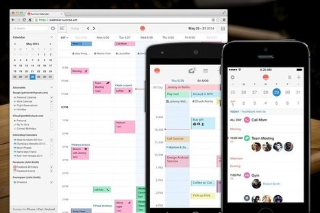Sunrise, le calendrier connecté, tombe entre les mains de Microsoft | Geekerie | Scoop.it