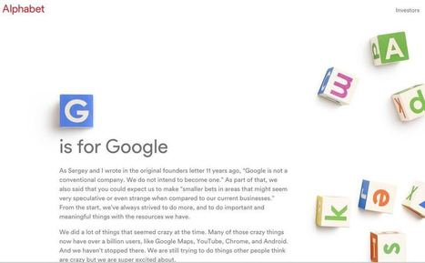 Et Google devint Alphabet - Les Outils Google | Les outils du Web 2.0 | Scoop.it