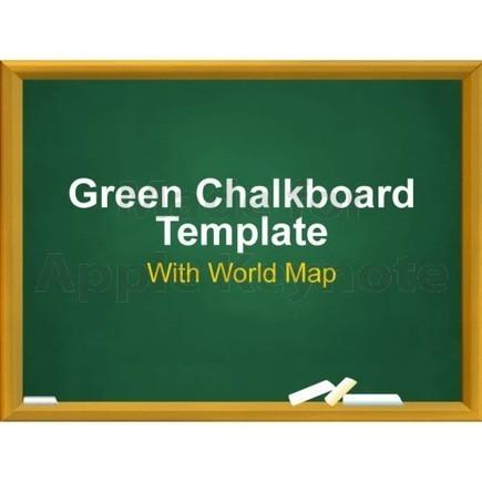Green Chalkboard Template for Keynote Presentation | Keynote Slide Formatting: Create better looking presentations | Scoop.it