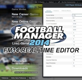 Football Manager 2014 Real Time Editor - FM14 RTE | Passion for Football Manager 2014 | Football Manager 2014 Real Time Editor | Scoop.it