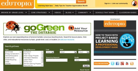 Edutopia's Green Teacher's Resources | Edutopia | Education for Sustainable Development | Scoop.it