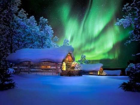 Sleeping under the Northern Lights: thats what you can do at this hotel in Finland   The Arctic Circle   Scoop.it