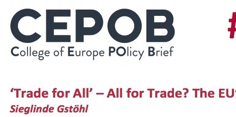 'Trade for All' – All for Trade? The EU's New Strategy | Géopolitique de l'Europe | Scoop.it