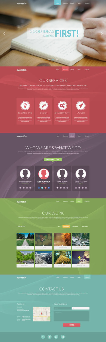 A Fresh and Trendy Collection Of Totally Free Website PSDs | Web, marketing, design | Scoop.it