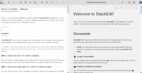 StackEdit: Estupendo editor de textos online. | My post 1 | Scoop.it