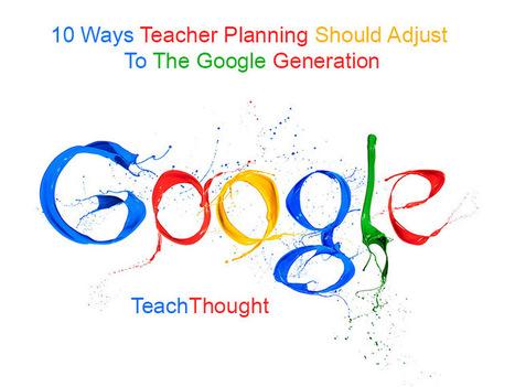 10 Ways Teacher Planning Should Adjust To The Google Generation | Book writer | Scoop.it