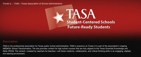 TASA joins iTunes U, offering FREE course content to transform Texas … | iGeneration - 21st Century Education | Scoop.it