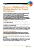 Hazardous Drinking in 2011/12: Findings from the New Zealand Health Survey | TGS Health | Scoop.it