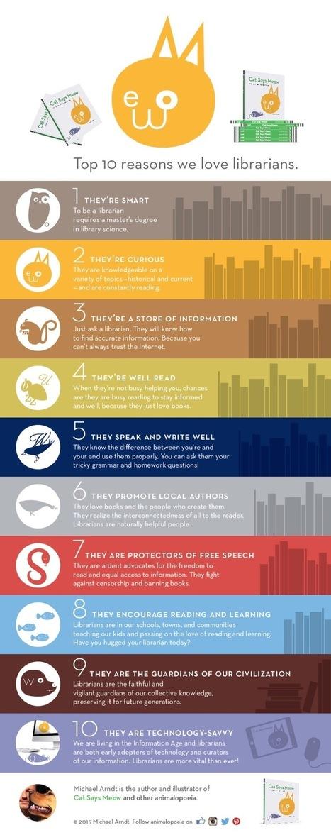 Top 10 reasons we love librarians (infographic) | Kirjastoala | Scoop.it