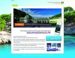 "Cap sur les plus beaux sites de la région avec la nouvelle application iPhone ""EscapadesPaca"". 
