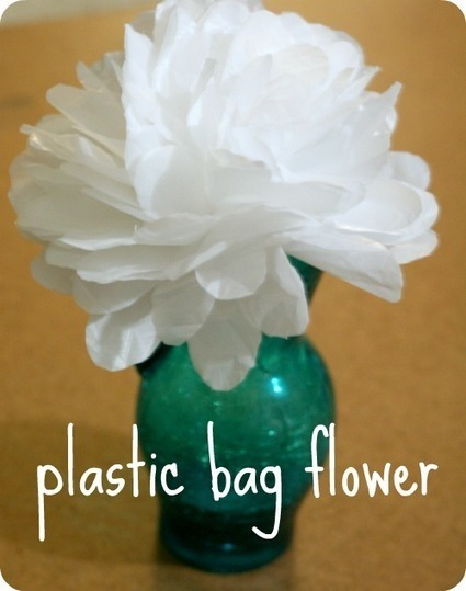 Use plastic bags to make your own flowers | Silly Simple Living | Crafts | Scoop.it