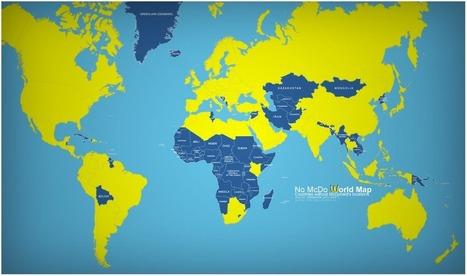 La carte du monde des pays sans McDonald's | Géographie au lycée | Scoop.it