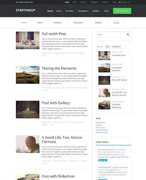 StartingUp Theme Review - WPZOOM | READ THIS | WP Tutorials and Tips | Scoop.it