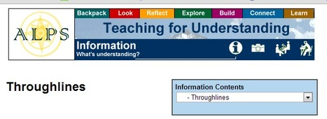 ALPS: Teaching for Understanding: Throughlines | Engagement Based Teaching and Learning | Scoop.it