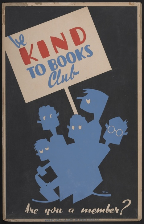 WPA posters teaching kids how to take care of books.   Humanidades digitales   Scoop.it