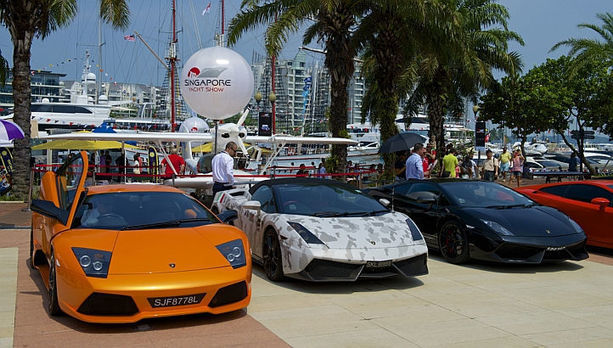 See supercars, art, gems, at Singapore Yacht Show