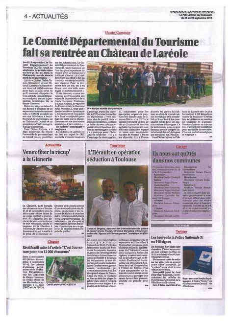 Petit Journal Séminaire CDT31 au château de Laréole | Haute-Garonne tourisme | Scoop.it
