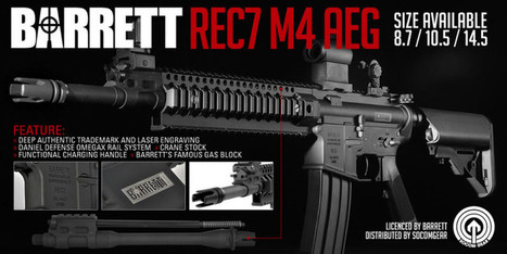 Socom Gear // Barret REC7 Fully Trademark AEG - Airsoft & Military News Blog by Airsoft Community Europe | Airsoft Showoffs | Scoop.it