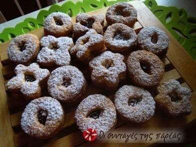 Μπισκότα γεμιστά με μαρμελάδα δαμάσκηνο | Recipes!!! | Scoop.it