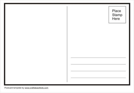 postcard template crafts ideas for kids esl efl activities and