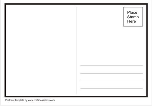 postcard template crafts ideas for kids esl