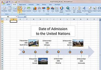 Create a timeline using Microsoft Office Excel 2007 | Education | Scoop.it