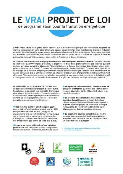 Projet de loi sur la transition énergétique - [CDURABLE.info l'essentiel du développement durable] | Transitions | Scoop.it