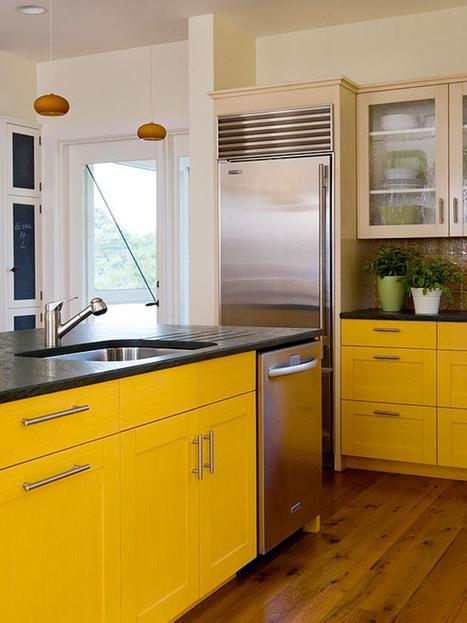 Đưa Màu Sắc Cho Phòng Bếp Tủ Bếp Đẹp Hơn | Phong thủy tủ bếp gia đình | Scoop.it
