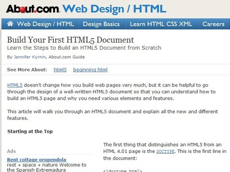 Build Your First HTML5 Document | Time to Learn | Scoop.it