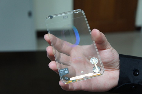 Le prototype du premier smartphone transparent | Smartphone and tablet learning | Scoop.it