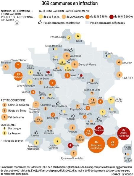 Logements sociaux : les villes qui bafouent la loi SRU | CAP21 | Scoop.it