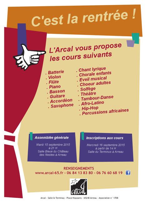 L'École de musique de l'Arcal fait sa rentrée le 16 septembre | Vallée d'Aure - Pyrénées | Scoop.it