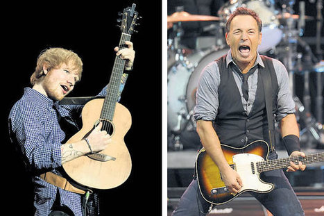 Ed's the Boss : Sheeran reckons he's just like Springsteen - Daily Star | Bruce Springsteen | Scoop.it