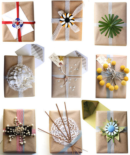 5 Great Kraft Paper Wrapping Ideas | creative world - your vision | Scoop.it