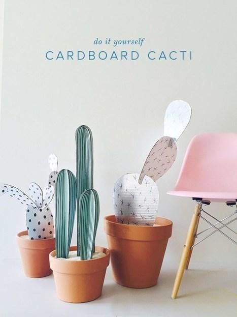 DIY cardboard cacti | Récup Création | Scoop.it