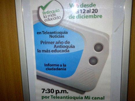 Qué hemos hecho este año en Antioquia? Muchísimo. No se lo pierdan, en TeleAntioquia. 7 y 30 pm. http://twitter.yfrog.com/od9asoij   Hispanoamérica, noticias   Scoop.it
