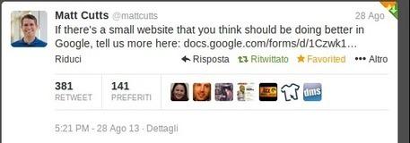 Come segnalare il tuo sito Web - Matt Cutts - Small website survey | SEO & Social Media | Scoop.it