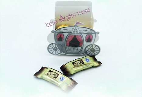 12pcs TH006 Enchanted Carriage Candy bag, Baptism Party | Wedding Favor Boxes | Scoop.it
