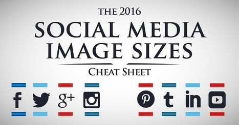 2016 Social Media Image Sizes Cheat Sheet | SEJ | M-learning, E-Learning, and Technical Communications | Scoop.it