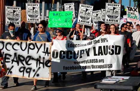 Protesting school cuts - LA Youth | SchoolLibrariesTeacherLibrarians | Scoop.it