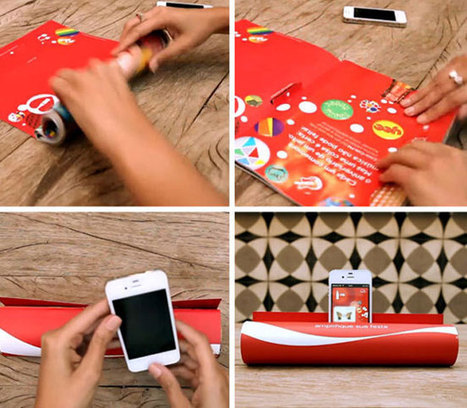 Coca Cola Advert Turns Any Magazine Into A Smartphone Amplifier (video) » Geeky Gadgets | New Media and Technology | Scoop.it