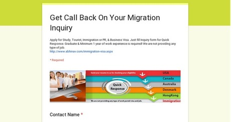 Get Call Back On Your Migration Inquiry | Canadian, Australian Immigration Expert in India | Scoop.it