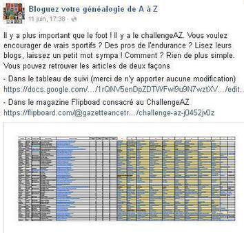 Challenge AZ | Cercle Genealogique de Maisons-Alfort | CGMA Généalogie | Scoop.it