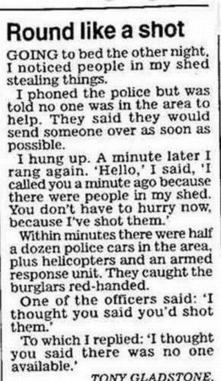 Believe it or not this was cut from a newspaper | A Sense of the Ridiculous | Scoop.it