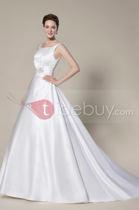 Noble Concise Scoop Zipper-Up Court Train A-Line Wedding Dress | lovely girl | Scoop.it