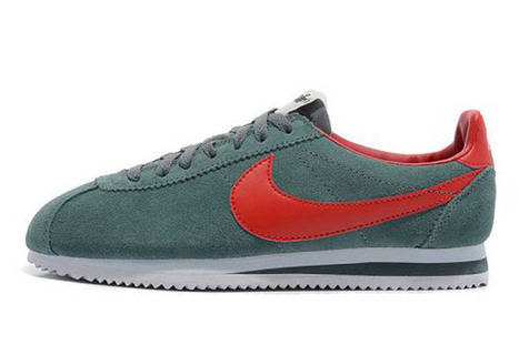 Nike Classic Cortez Vintage Suede Trainers Grey Red Womens | popular and new list | Scoop.it