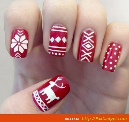 Amazing and Beautiful Nail Ideas 2015-2016 for Xmas - Gul Ahmed, Firdous Lawn, Sana Safinaz, Swiss Lawn | Latest Fashion Designs | Scoop.it