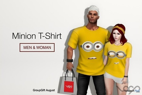 Minions Yellow T-Shirt For Couples Group Gift by Loop Store | Teleport Hub - Second Life Freebies | Second Life Freebies | Scoop.it